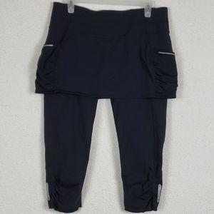 Athleta skirted workout cropped leggings